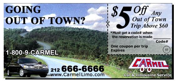Carmel car service coupon code